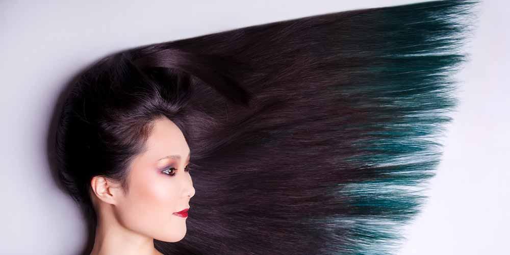 دکوپاژ طبیعی موهای رنگی و بدون رنگ