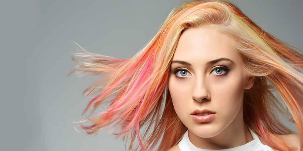 دکوپاژ رنگ موی فانتزی