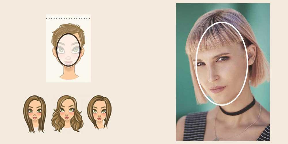 مدل مو برای فرم صورت بیضی