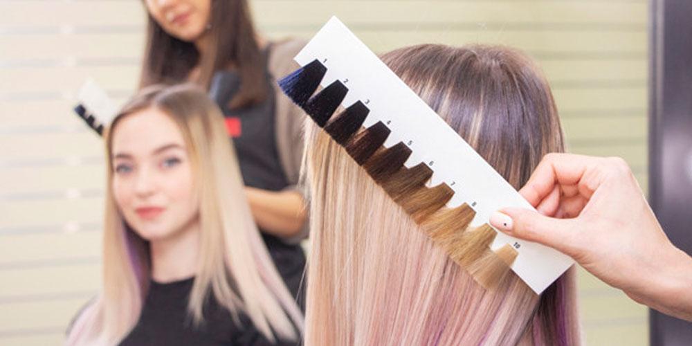 رنگ ریشه موهای مش شده
