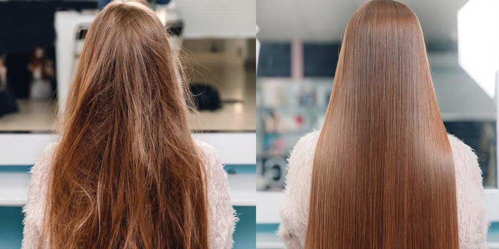 تفاوت قبل و بعد از ریباندینگ مو