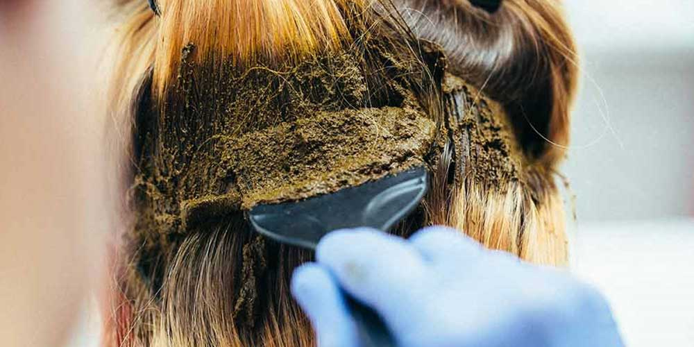 ترکیب رنگ مو با حنا