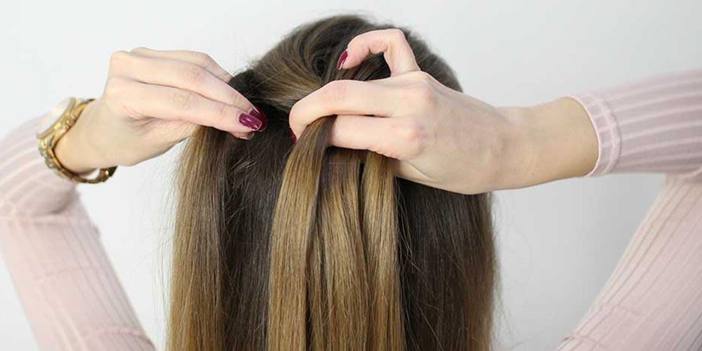 بافت مو فرانسوی یک طرفه