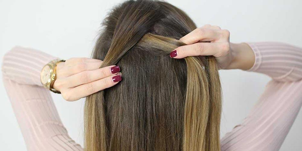 بافت مو فرانسوی ساده