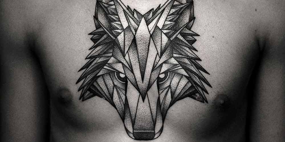 طرح تاتو مردانه گرگ