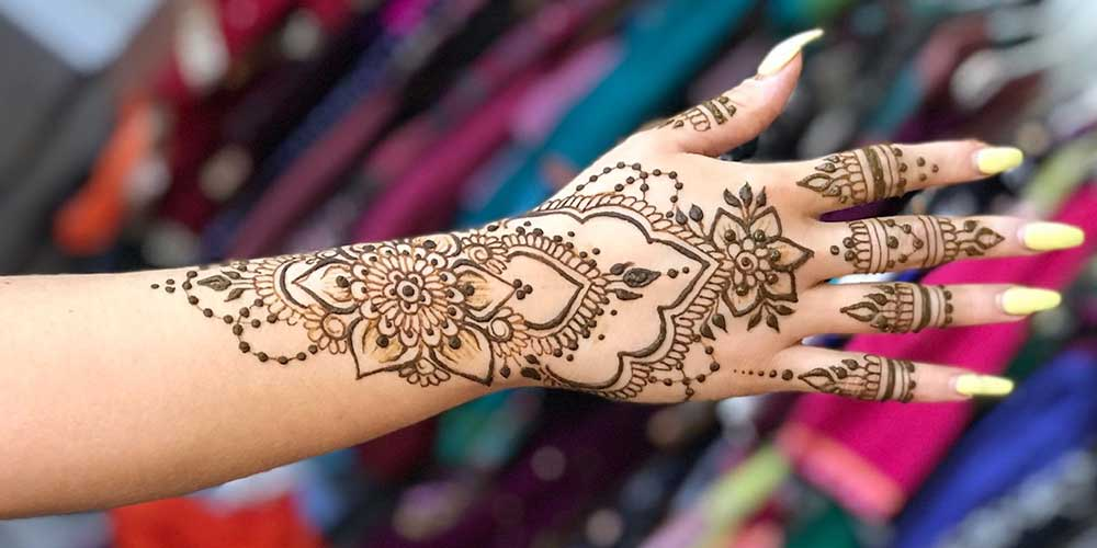 طرح حنا عربی عروس