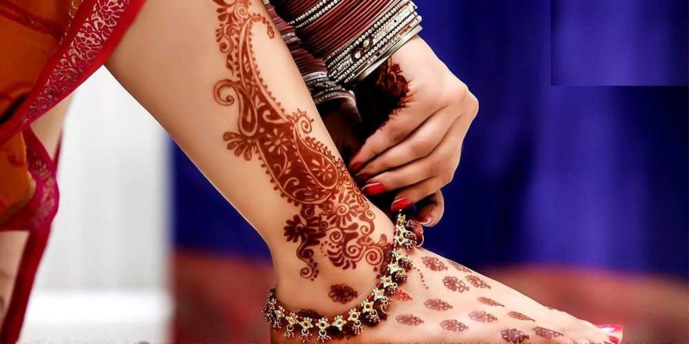 طرح حنای پای عروس