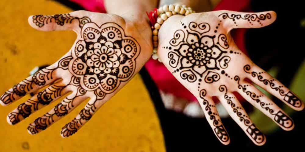 طراحی حنا برای عروس