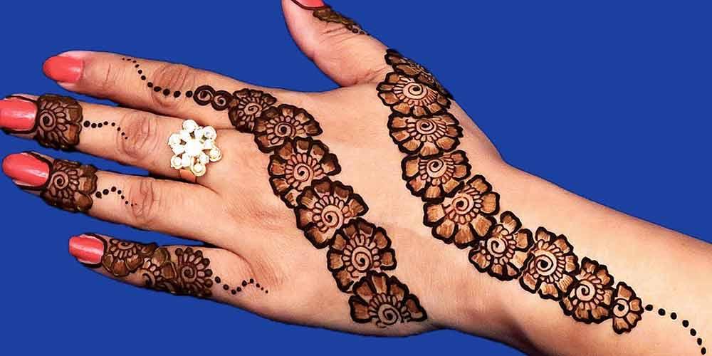 نقش حنا عروس هندی