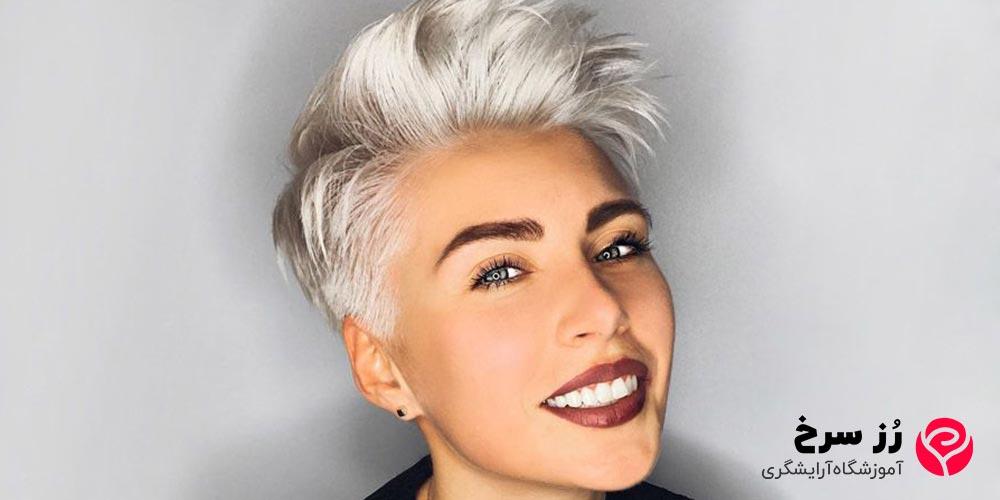 مدل موی کوتاه دخترانه برای صورت کشیده