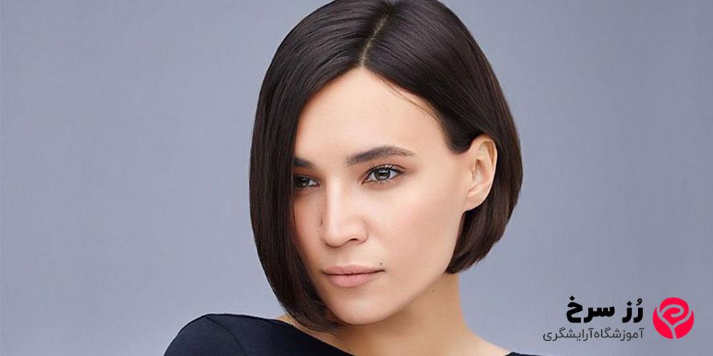 مدل مو کوتاه دخترانه برای صورت کشیده و لاغر