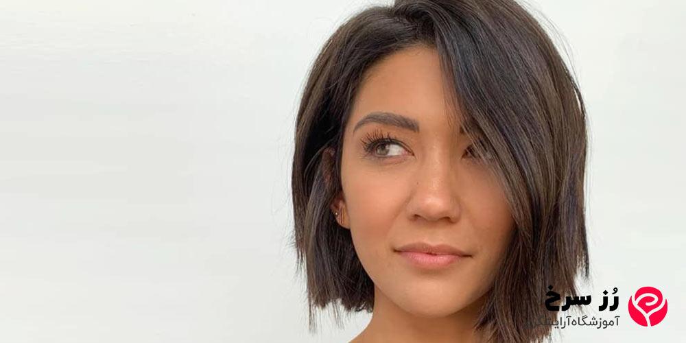 مدل مو کوتاه زنانه برای صورت کشیده