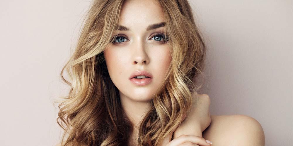 مدل موی بلند رنگ شده دخترانه برای صورت های بیضی