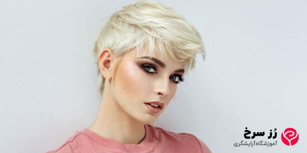 مدل موی کوتاه مناسب صورت کشیده
