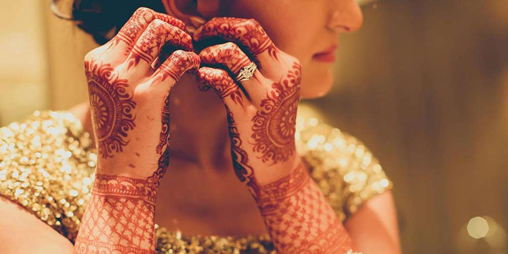 نقش حناء عروس ساده