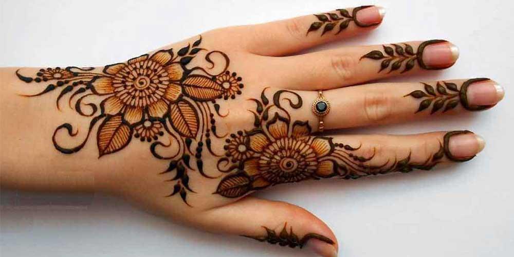 طراحی حنای عروس