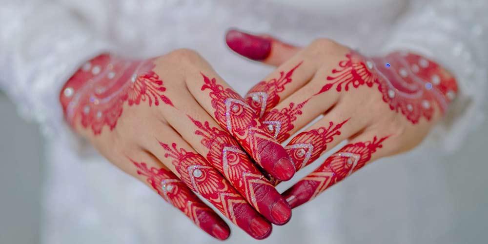 طراحی حنا برای عروس ساده