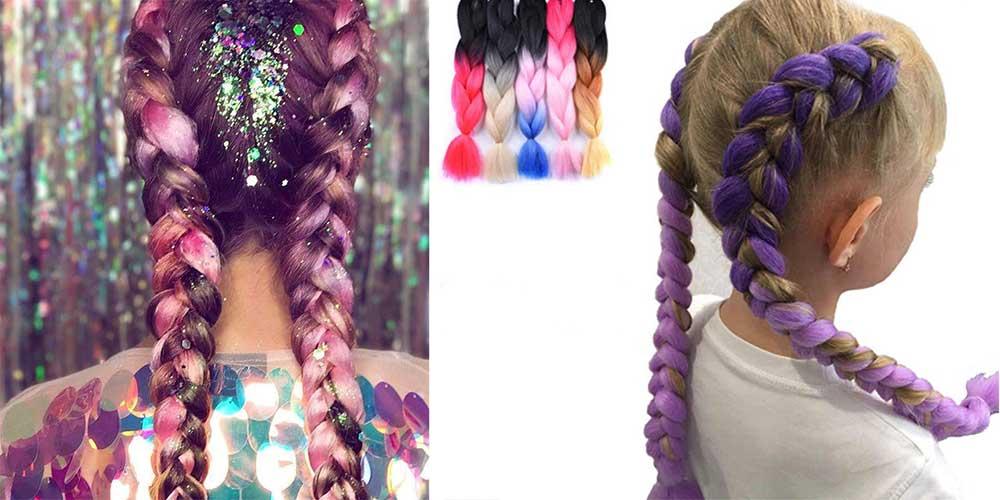 بافت موی اضافی رنگی