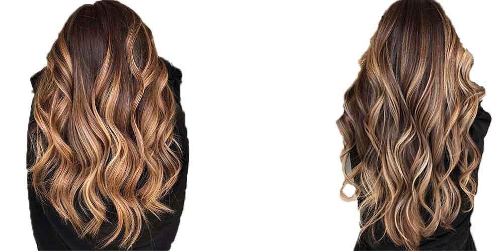مدل بالیاژ بلوند روی موی قهوه ای روشن