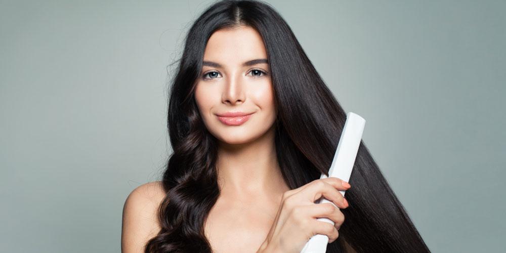 استفاده از اتوی مو برای براشینگ مو