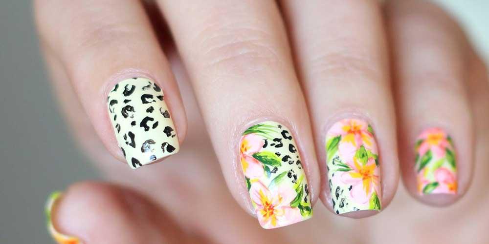 ناخن پلنگی با گل