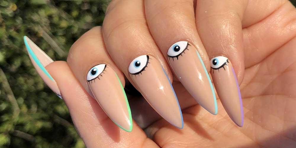 دیزاین چشم برای ناخن تیز