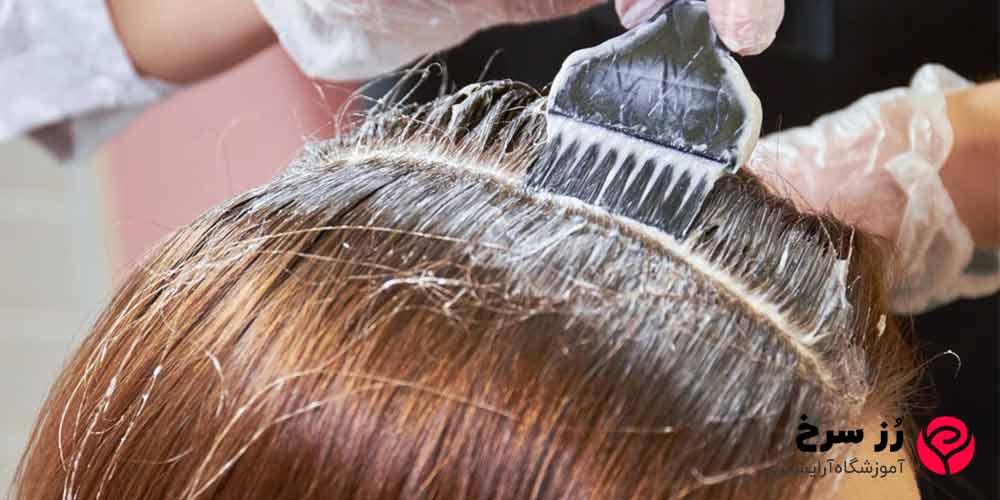 آموزش ریشه گیری موهای دکلره شده