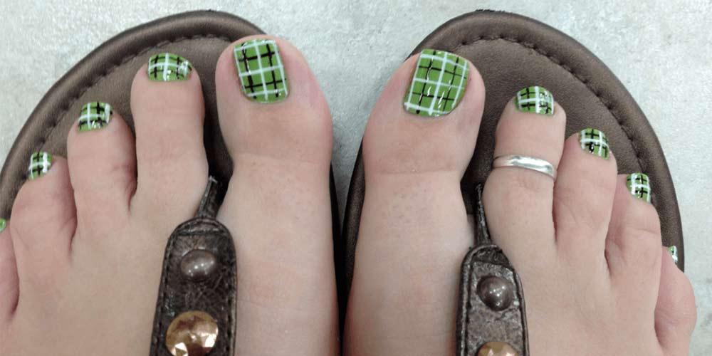 دیزاین ناخن پا جدید
