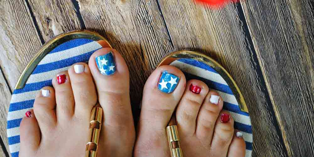 طرح ستاره ناخن پا