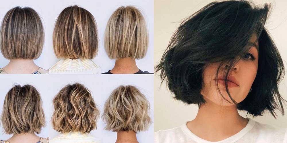 استایلهای مختلف یک مدل مو کوتاه دخترانه