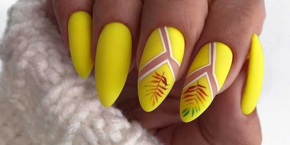 ایده ناخن زرد فانتزی