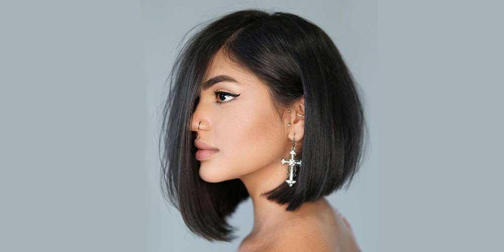 مدل کوتاه برای موهای لخت و مشکی