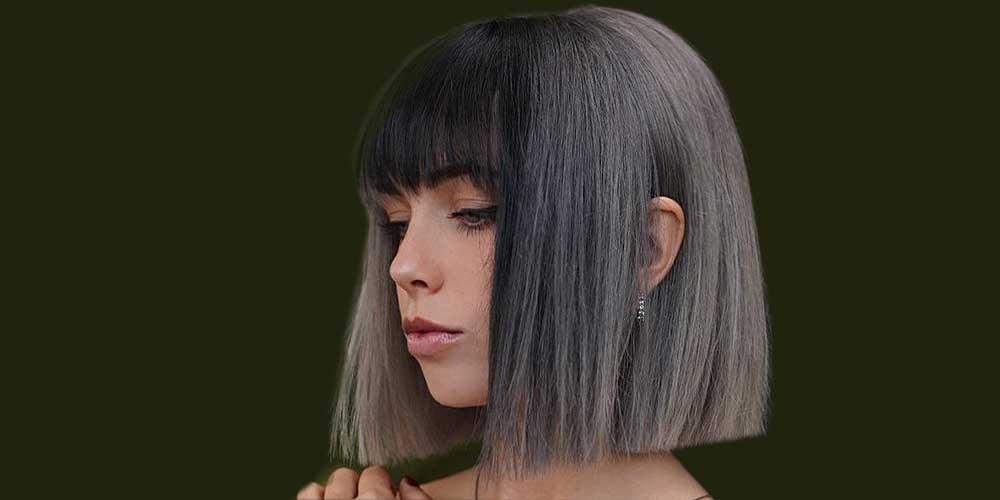 مدل مو کوتاه شیک و زیبای خاکستری