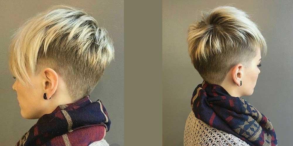 مدل مو کوتاه بلوند