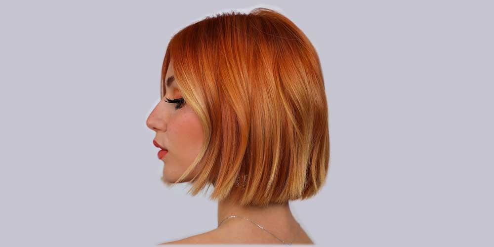 مدل مو کوتاه دخترانه با آمبره فانتزی
