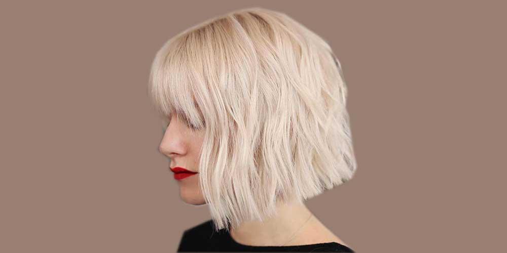 مدل مو کوتاه دخترانه برای موی بلوند