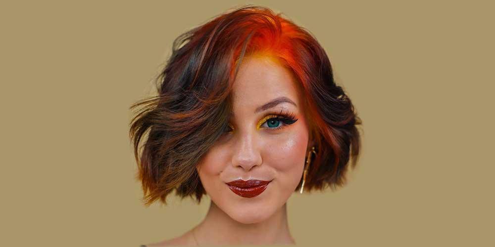 موی کوتاه دخترانه فانتزی