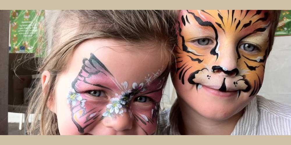 نقاشی زیبا صورت بچه های کم سن و سال