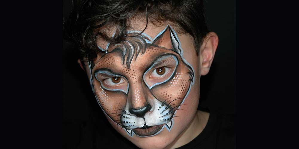 نقاشی گرگ روی صورت