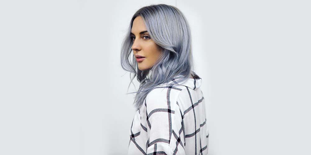 ایده رنگ مو آبی دودی