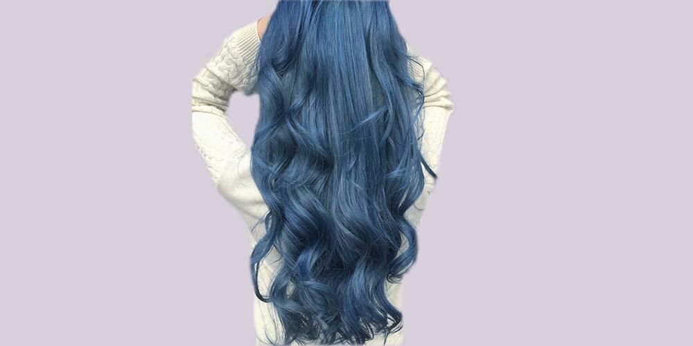 رنگ مو آبی فیلی