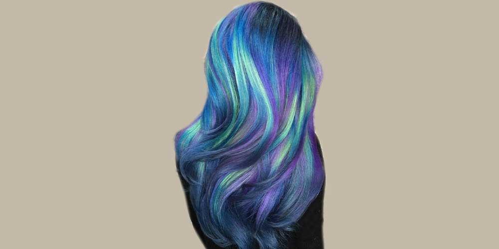 رنگ مو آبی پری دریایی