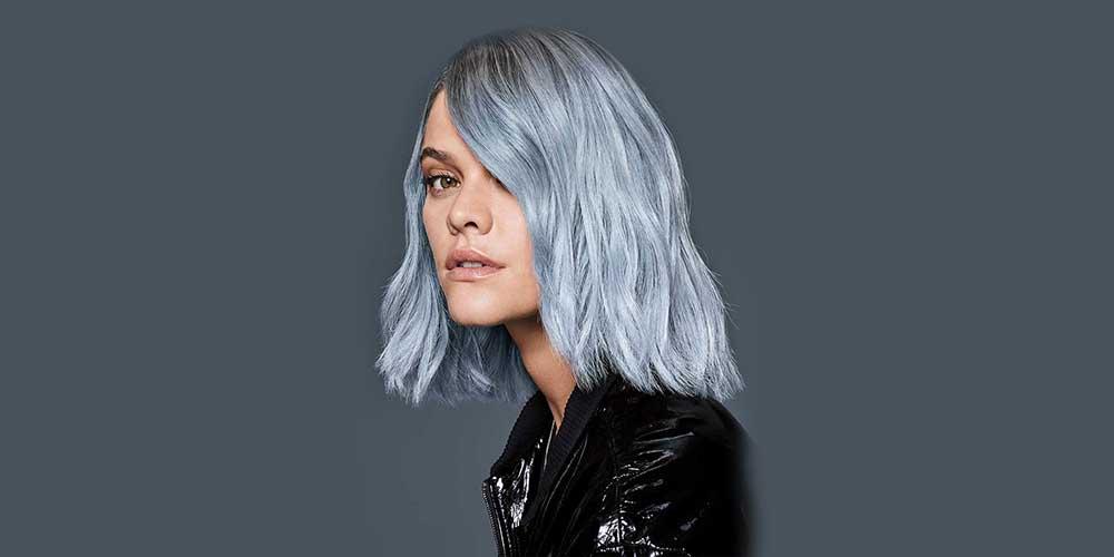 موهای آبی دودی