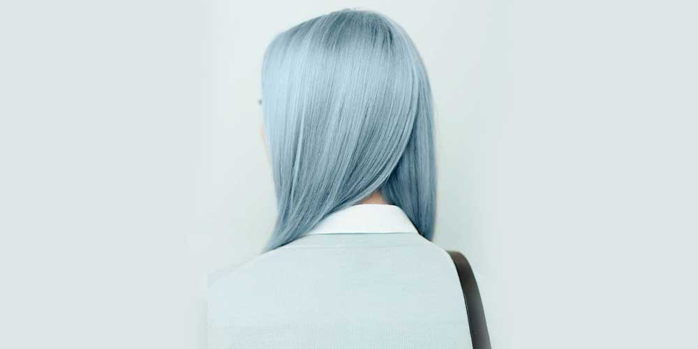 رنگ مو آّبی شیک