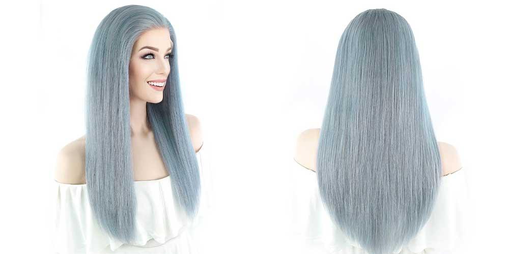 رنگ مو آبی دودی