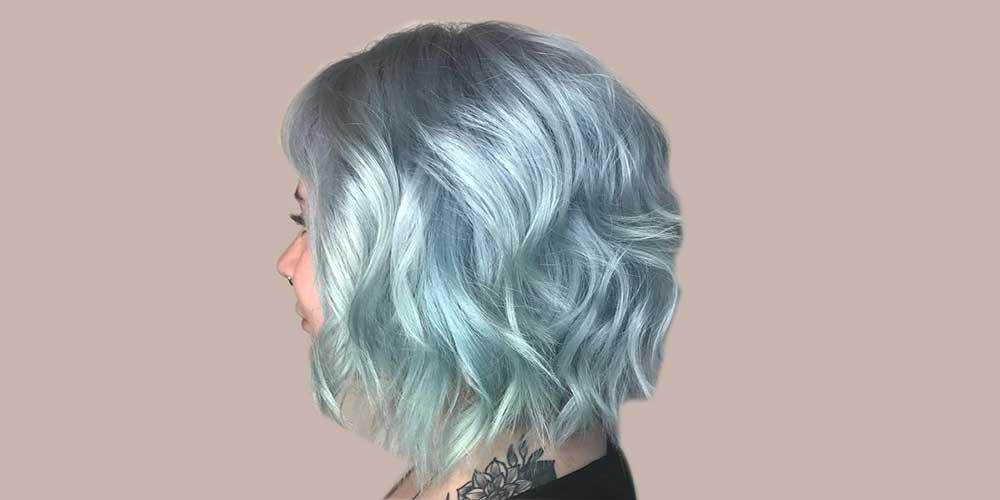 رنگ مو آبی یخی برای موهای کوتاه