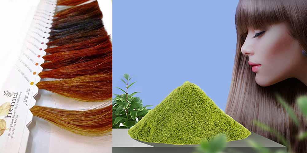 تناژهای مختلف رنگ مو با حنا