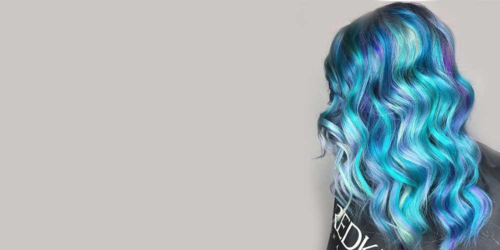 موهای بلند با رنگ آّبی پری دریایی