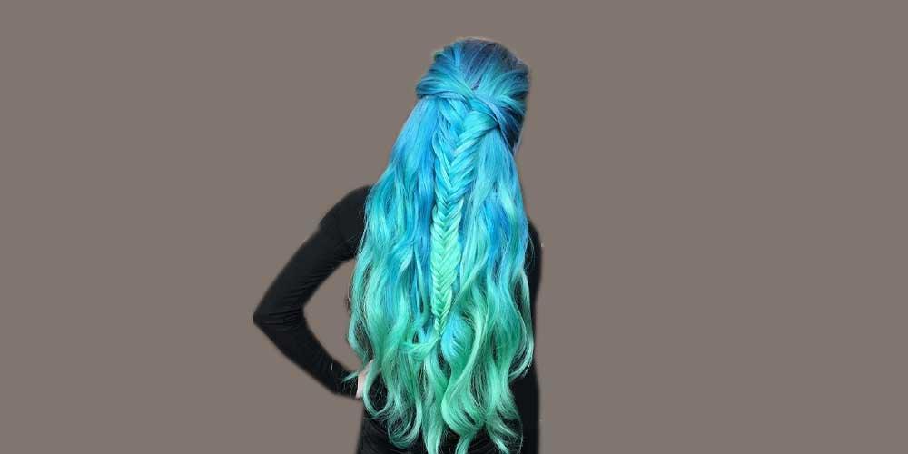 موی بافته شده با رنگ پری دریایی
