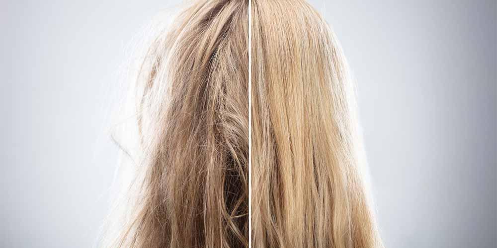 قبل و بعد روغن تراپی مو